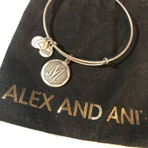 Initial letter- M Alex and ani bracelet